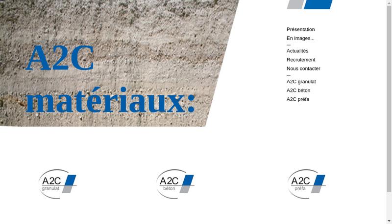 Capture d'écran du site de A2C Granulat