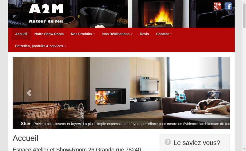 Capture d'écran du site de A2M Autour du Feu