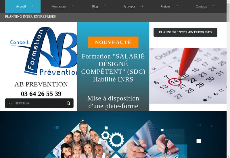 Capture d'écran du site de Ab Prevention