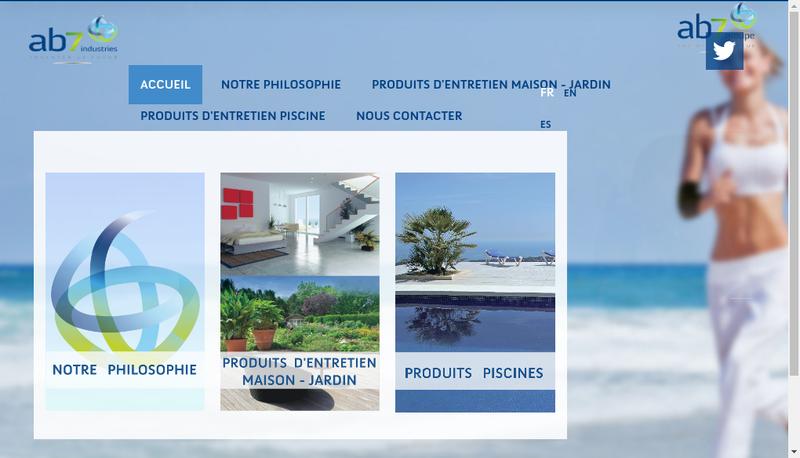 Capture d'écran du site de Ab7 Innovation