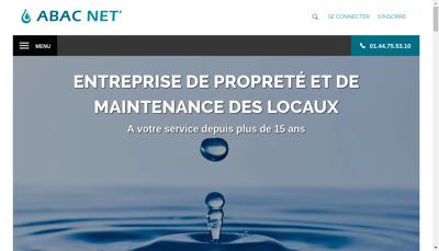 Capture d'écran du site de Abac Net