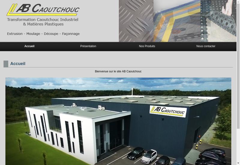 Capture d'écran du site de Ab Caoutchouc