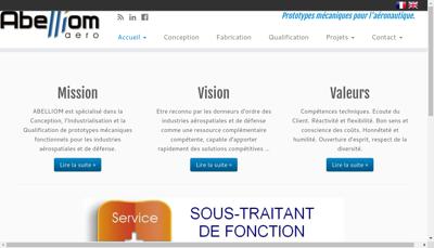 Capture d'écran du site de Abelliom Aero