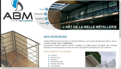 Capture d'écran du site de Abm Serrurerie
