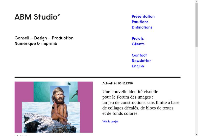 Capture d'écran du site de Abm Studio