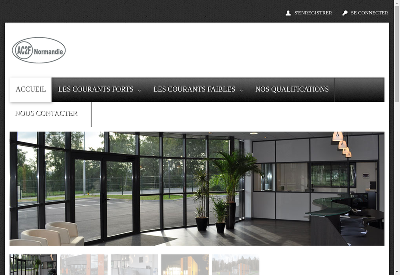 Capture d'écran du site de Ac2F Normandie