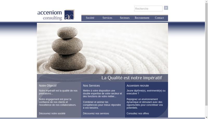 Capture d'écran du site de Acceniom Consulting