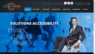 Capture d'écran du site de Accessible Groupe