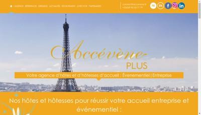 Site internet de Accevene Plus