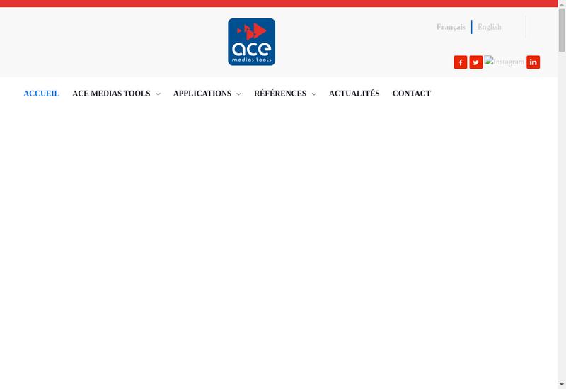 Capture d'écran du site de Ace Medias Tools