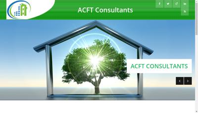 Capture d'écran du site de Acft Consultants