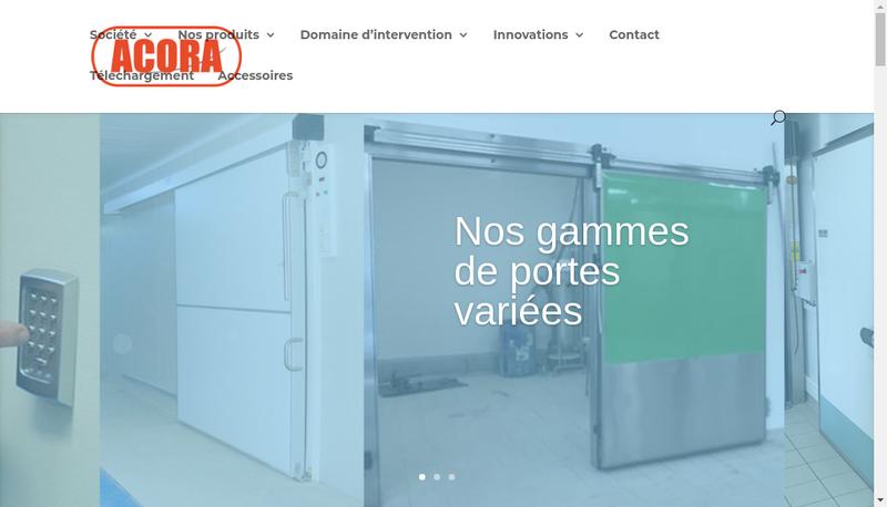 Capture d'écran du site de Acora