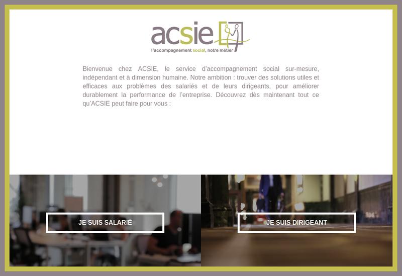Capture d'écran du site de Acsie
