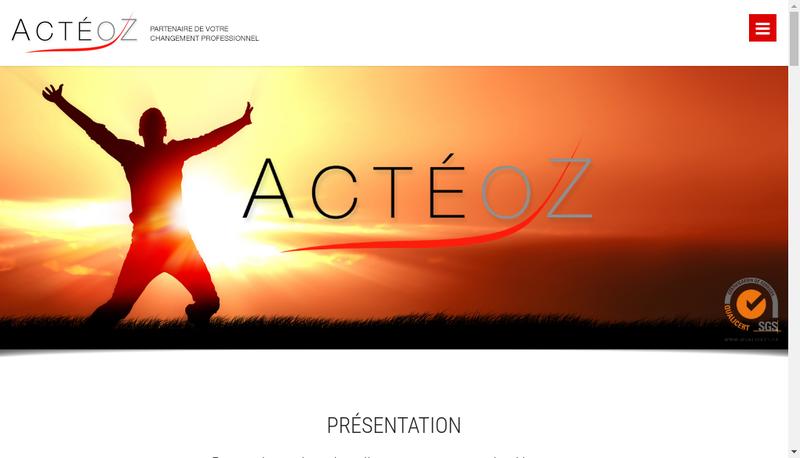 Capture d'écran du site de Acteoz