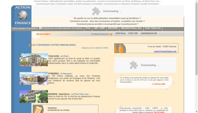 Capture d'écran du site de Action Finance et Patrimoine