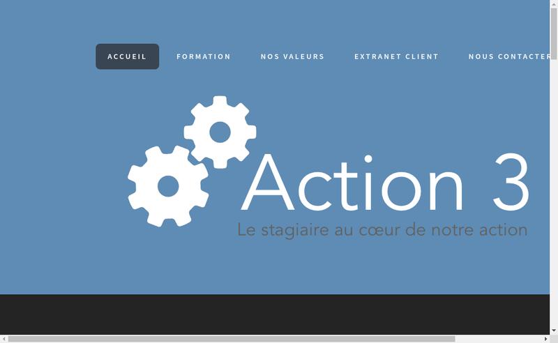 Capture d'écran du site de Action 3