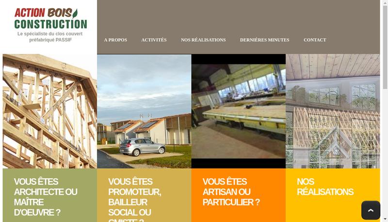 Capture d'écran du site de Action Bois Construction