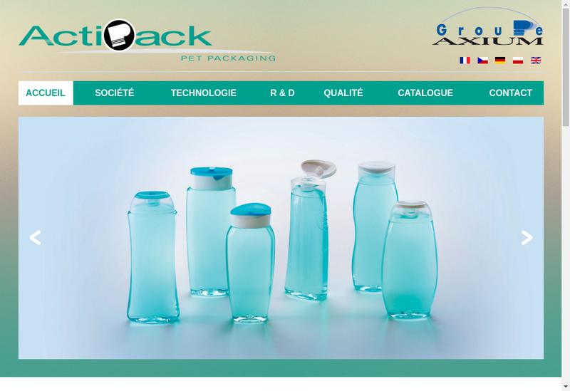 Capture d'écran du site de Acti Pack