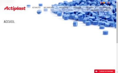 Site internet de Acti-Plast