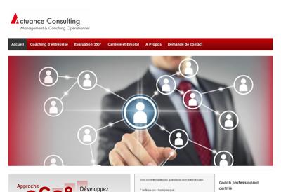 Capture d'écran du site de Actuance Consulting