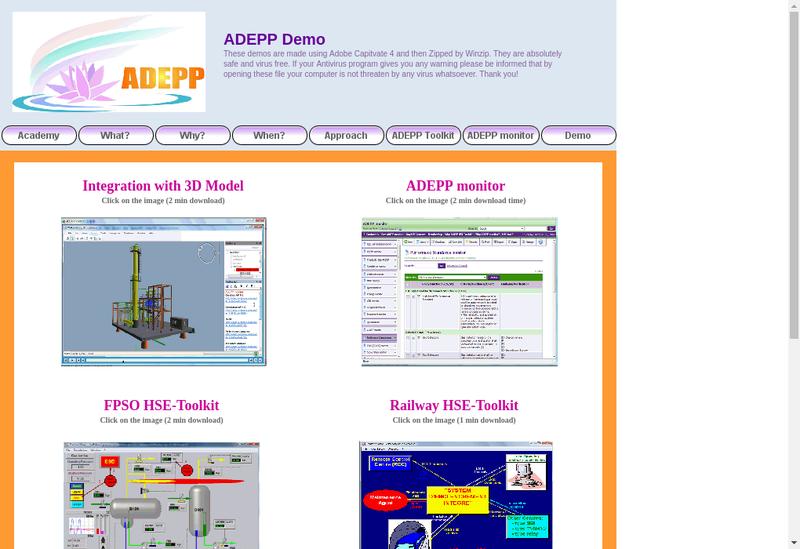 Capture d'écran du site de Adepp