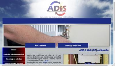 Capture d'écran du site de ADIS