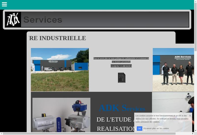 Capture d'écran du site de ADK