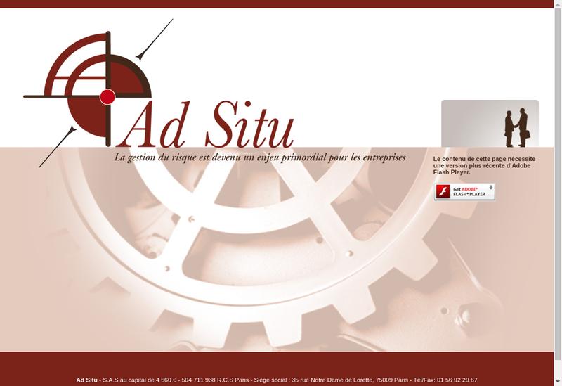 Capture d'écran du site de Ad Situ