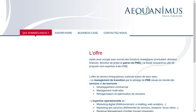 Site internet de Aequanimus
