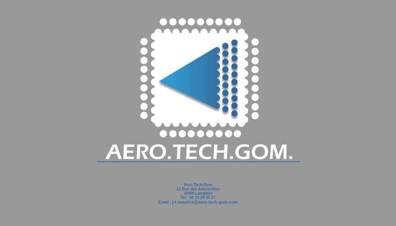 Capture d'écran du site de Aero Tech Gom