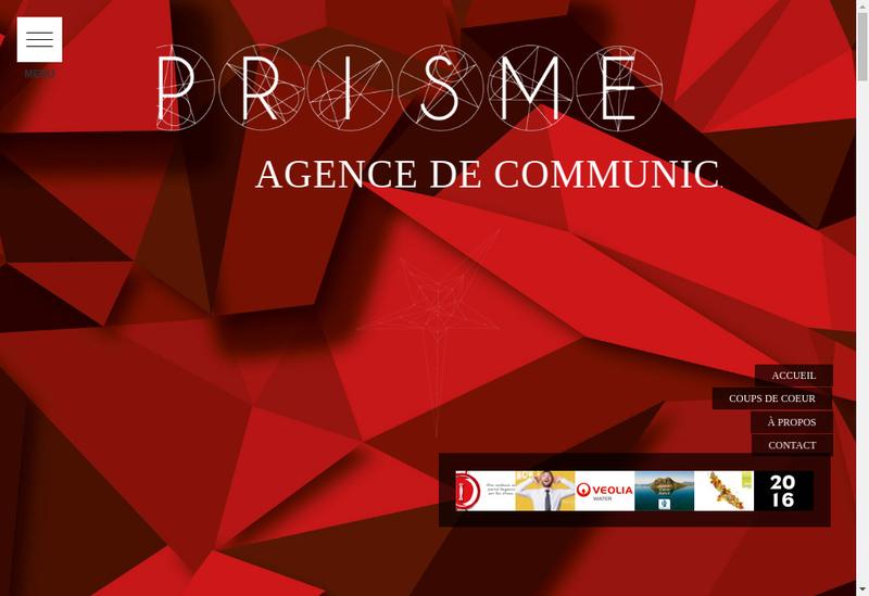Capture d'écran du site de Agence Prisme