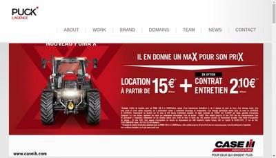 Site internet de Puck l'Agence
