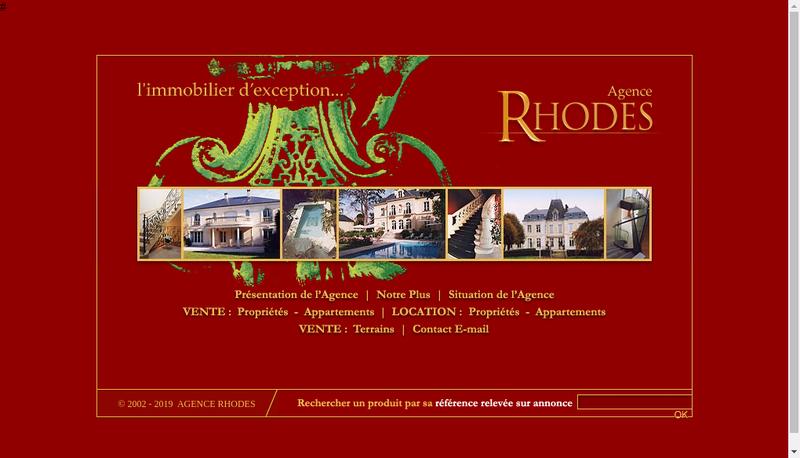 Capture d'écran du site de Agence Rhodes