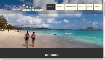 Capture d'écran du site de Alsace Tourisme