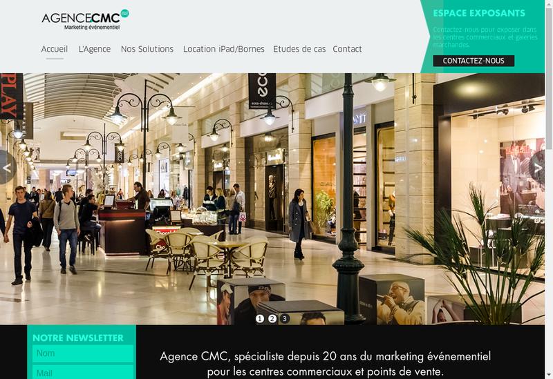 Capture d'écran du site de Agence Cmc
