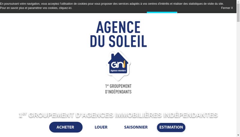 Capture d'écran du site de Solimob
