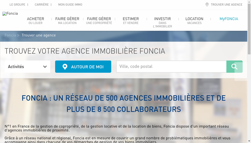 Capture d'écran du site de Gerbay SA