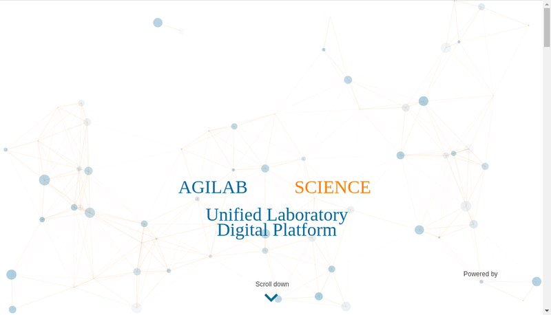 Capture d'écran du site de Agilab