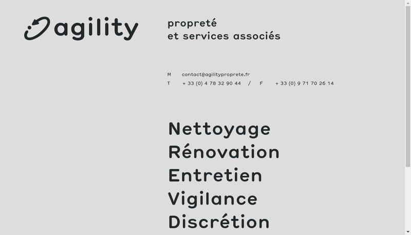 Capture d'écran du site de Agility Proprete et Services