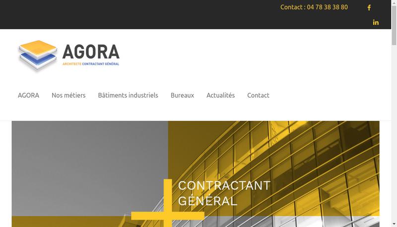 Capture d'écran du site de Agora Architecture