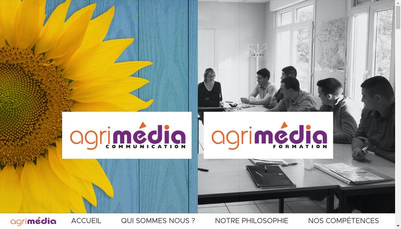 Capture d'écran du site de Agrimedia