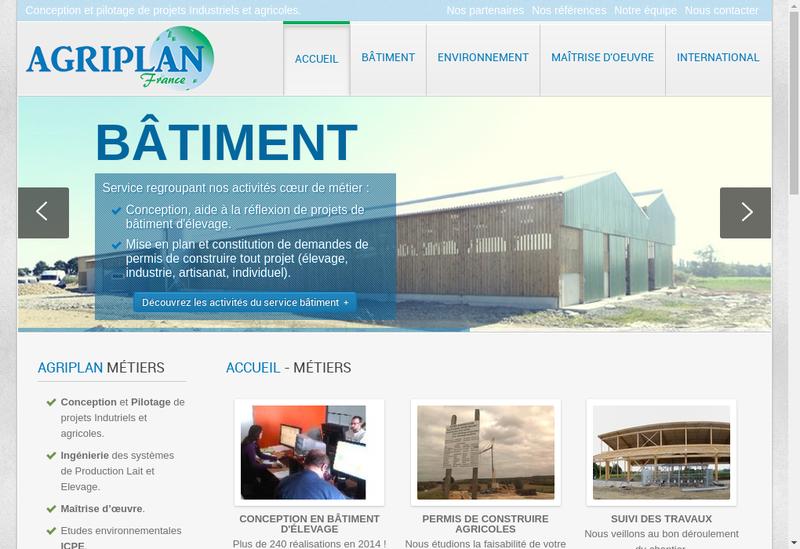 Capture d'écran du site de Agriplan France