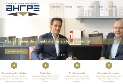 Capture d'écran du site de Ahrpe