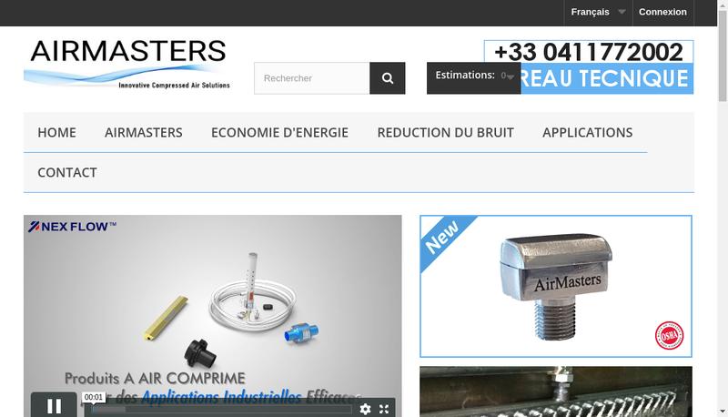 Capture d'écran du site de Airmasters