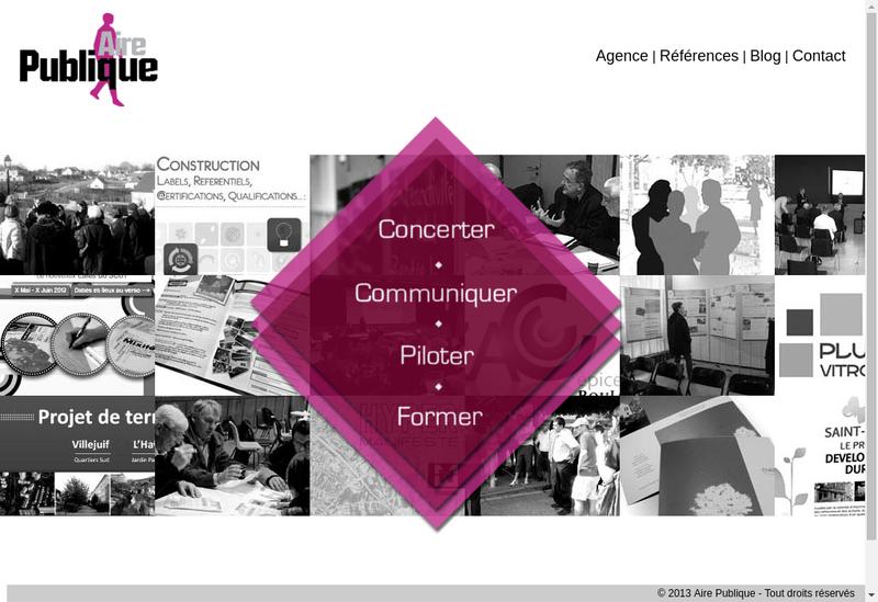 Capture d'écran du site de Aire Publique