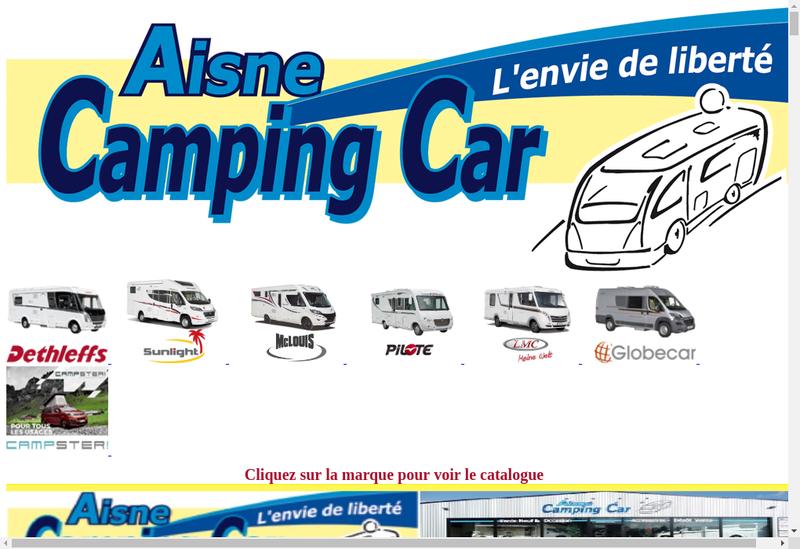 Capture d'écran du site de Aisne Camping Car