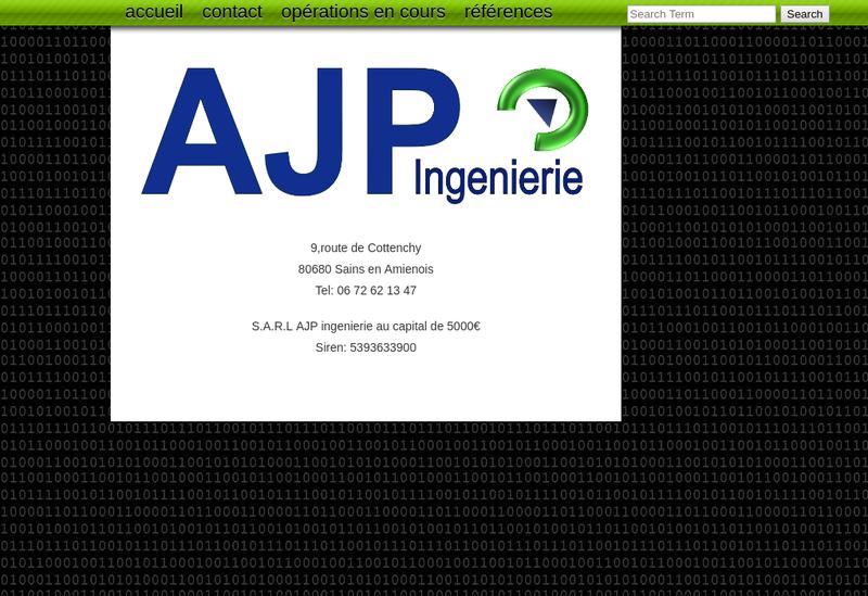 Capture d'écran du site de Ajp Ingenierie