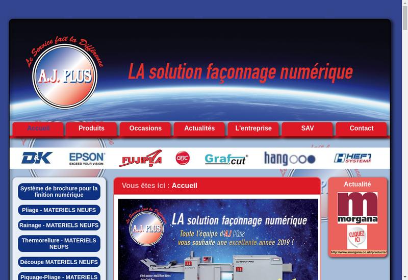Capture d'écran du site de Aj Plus