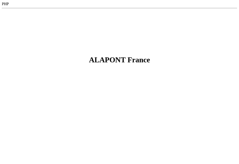 Capture d'écran du site de Alapont France