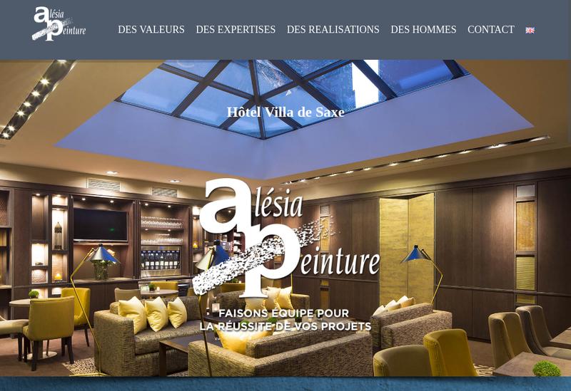 Capture d'écran du site de Alesia Peinture